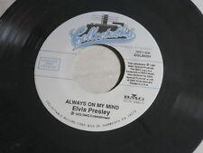 ELVIS PRESLEY~ALWAYS ON MY MIND~RARE GRAY SPLASH WAX~~POP~ ROCKABILLY 45