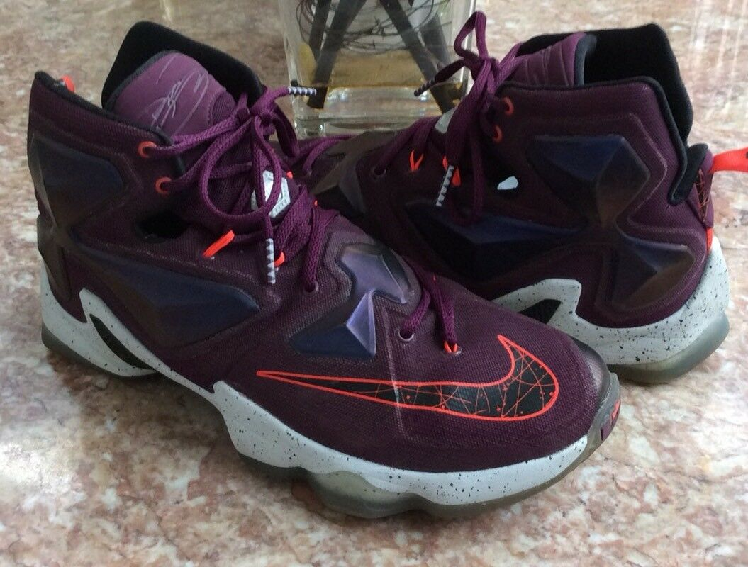 Nike Lebron XIII 13 Men's Mulberry Purple Basketball Shoes Size 10.5