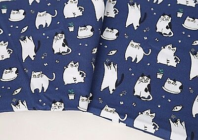 Polar bear 100/% Cotton Fabric Blue animal Craft Quilting JC5//44* BY THE YARD