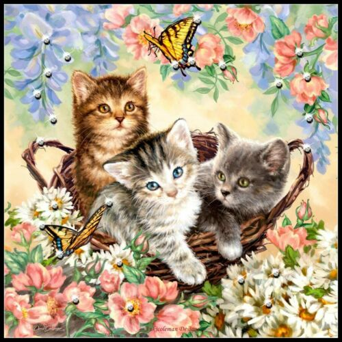 Color Symbols Charts Kittens and Butterflies Counted Cross Stitch Patterns