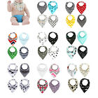 4x Cotton Baby Infant Bandana Bibs Saliva Towel Dribble Triangle Head Scarf New