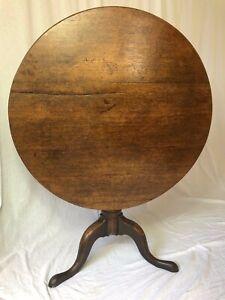 1-Fine-Antique-Period-Oak-18th-Century-George-III-Circa-1760-Tripod-Wine-Table