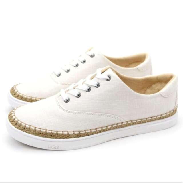 87111ba7fa1 UGG Australia Eyan II 1011223 White Wall Canvas and Jute Fashion  Sneakers-6.5