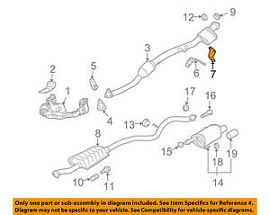 Pleasant Subaru Oem Legacy Exhaust System Catalytic Converter Pipe Hanger Wiring Cloud Rectuggs Outletorg