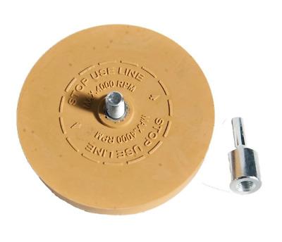 aufkleber entferner folienradierer radierscheibe bohrmaschine kfz radierer folie ebay. Black Bedroom Furniture Sets. Home Design Ideas