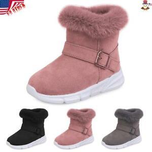 Warm Snow Fur Lined Ankle Shoes Zipper