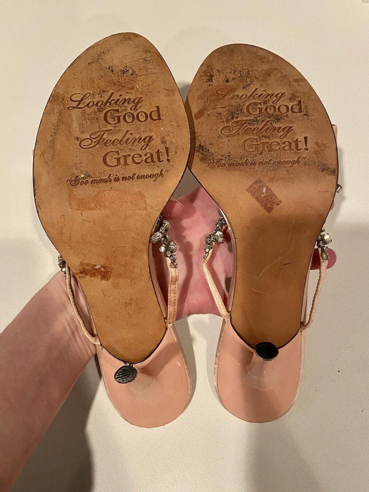 VINTAGE! Women's Blush & Crystal 'Beverly Feldman… - image 11