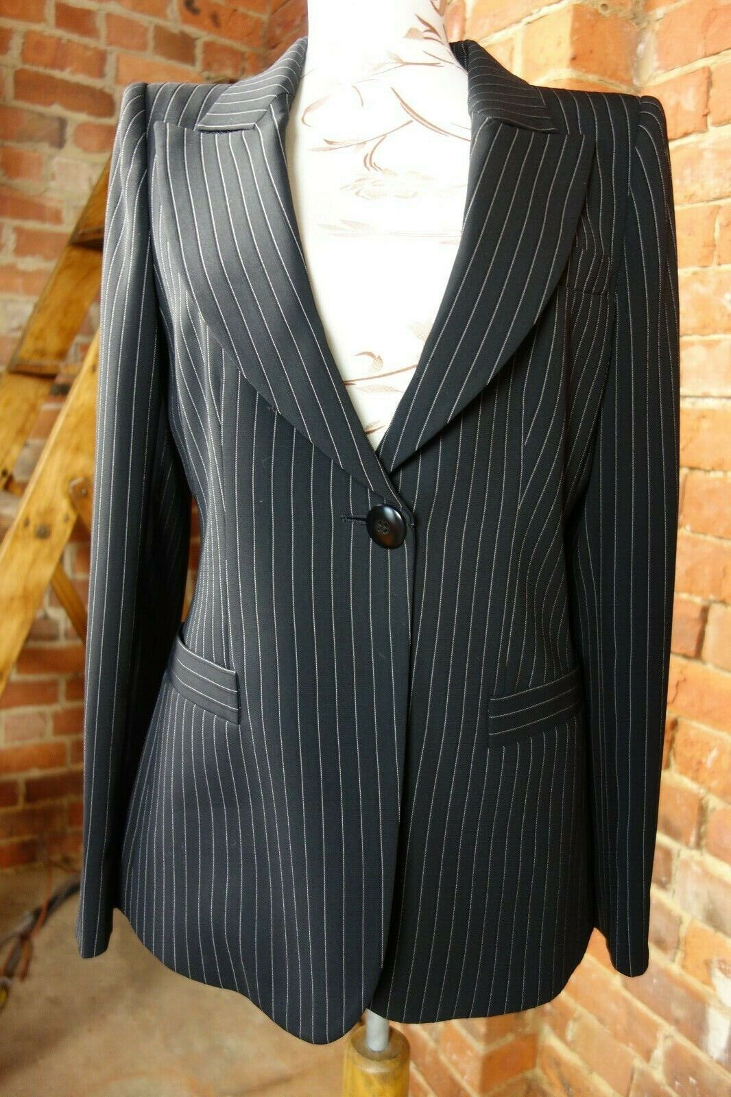 ARMANI pinstripe single breasted blazer. Stunning piece. .00