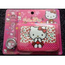Hello Kitty's Children's Watch Wallet Set For Kids Boys Girls Christmas Gift
