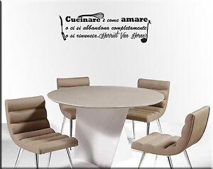 Adesivi murali frase cucina decorazioni da parete wall stickers frasi ws1127 ebay - Adesivi da parete per cucina ...