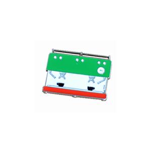 Green White Red Barista Coffee Geek Espresso Coffee Machine Pin Brooch Badge