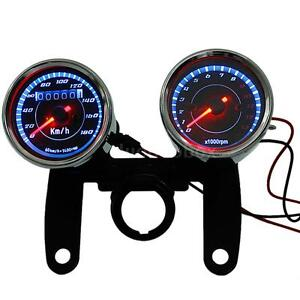 LED-Motorcycle-1300-RPM-Tachometer-Odometer-Speedometer-Gauge-With-Bracket-N0B8