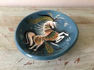 Vintage-SASCHA-BRASTOFF-Star-Steed-BOWL-Mid-Century-Dish-MCM-Ceramic-Dish-HORSE