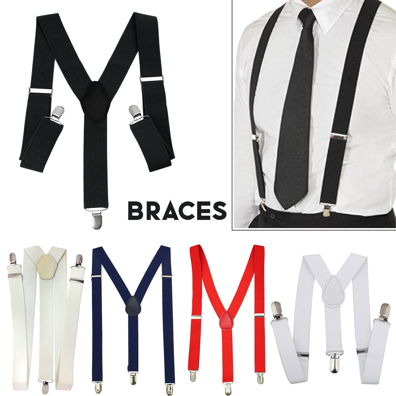 Verstellbarer Elastischer Hosenträger Herren Y-Rücken mit Clip Schwer Für Hose