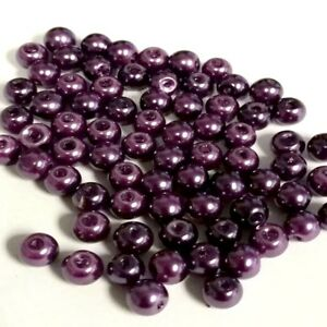 200-pieces-6mm-Glass-Pearl-Beads-Dark-Purple-A0976-A