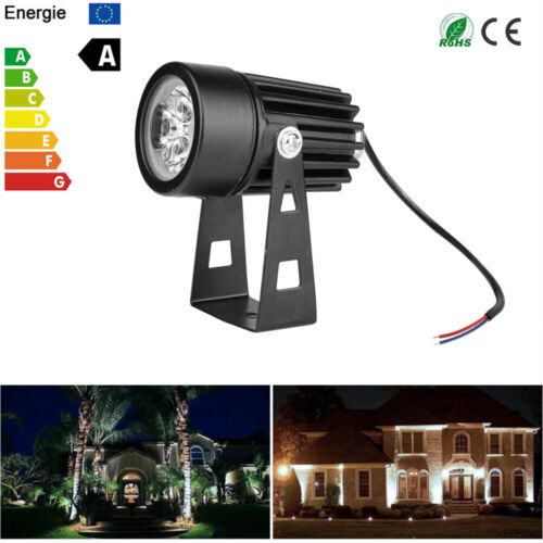 Mini 3W Outdoor Garden Light LED Flood Spot Light Lawn Landscape Lamp IP65 UK