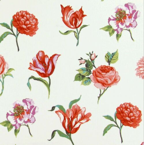 £9.99 metre Prestigious Juliete Geranium Curtain Fabric-137 cm wide