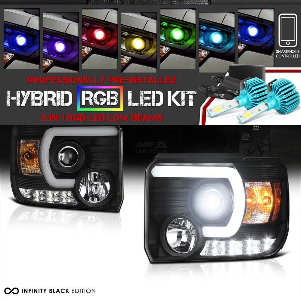 rainbow led low beam 14 2015 gmc sierra 1500 2500hd 3500hd oled drl headlights for sale online ebay