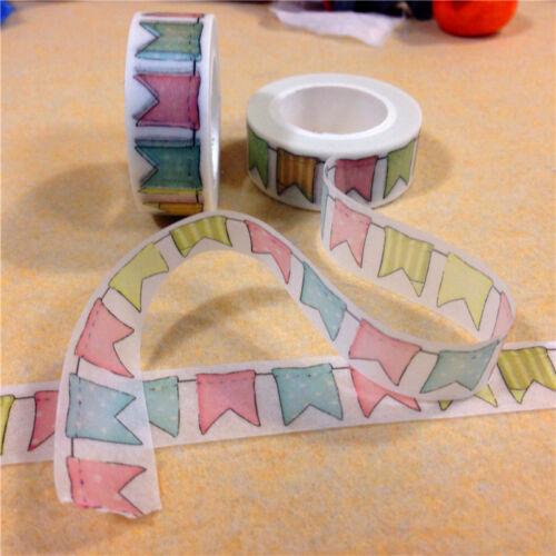 DIY bunt Flagge Klebeband Tagebuch Dekoband selbstklebend Band Mask Washi II33