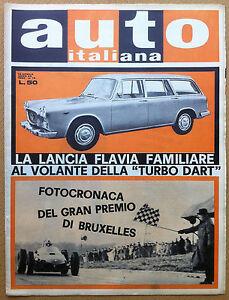 Auto Italiana - 1962 n° 15 - Flavia familiare - Traforo Gran San Bernardo - Italia - Auto Italiana - 1962 n° 15 - Flavia familiare - Traforo Gran San Bernardo - Italia