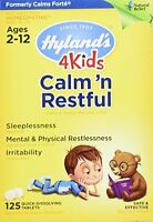 4 Pack Hyland's 4 Kids Calm'n Restful 125 Tablet Homeopathic Sleep Aid For Kids on sale