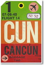 CUN - Cancun - Airport Tag - NEW Travel POSTER (tr495)