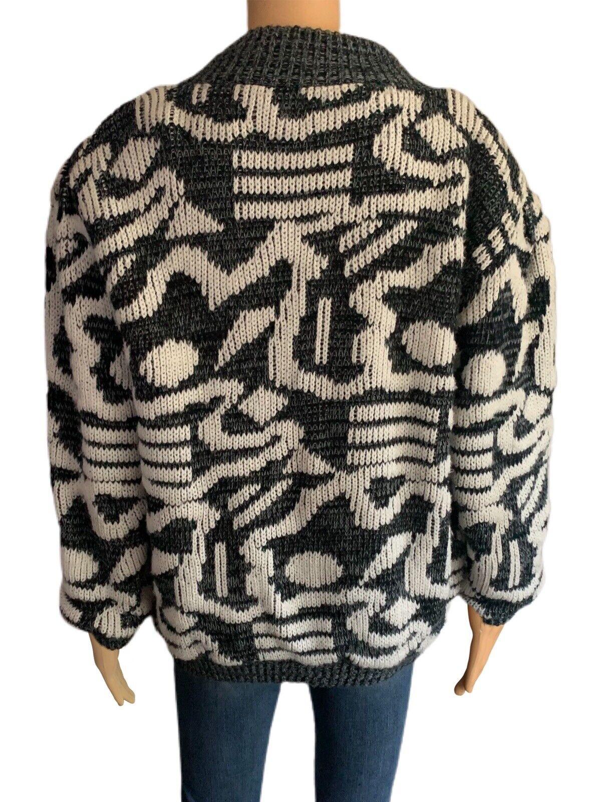 Chimayo Knit Sweater Jacket 80s Vintage Jacket Bo… - image 6