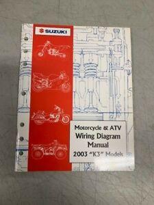 2003 Suzuki K3 Model Motorcycle & ATV Factory Shop Repair ...