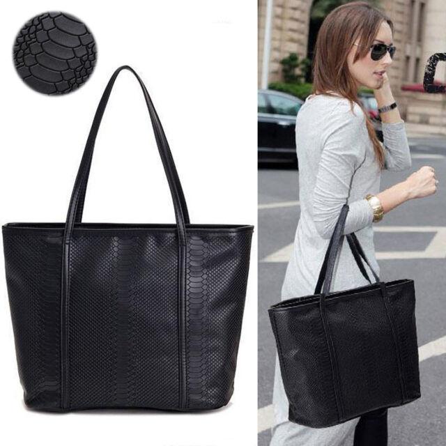Large Totes Women Faux Leather Fashion Messenger Handbag Shoulder Bag Hobo Purse