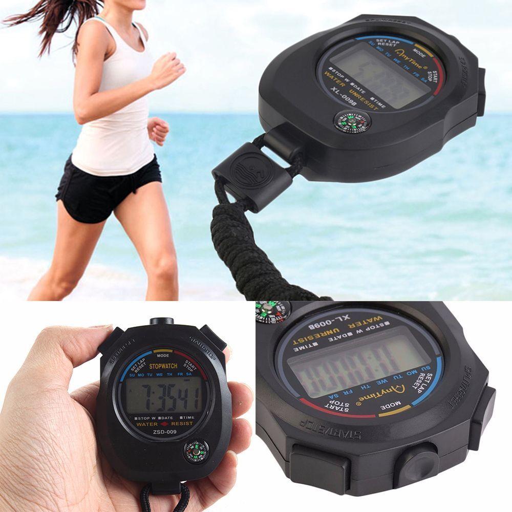 Timer Hour Meter Counter Digital Waterproof Outdoor Sports Alarm Stopwatch