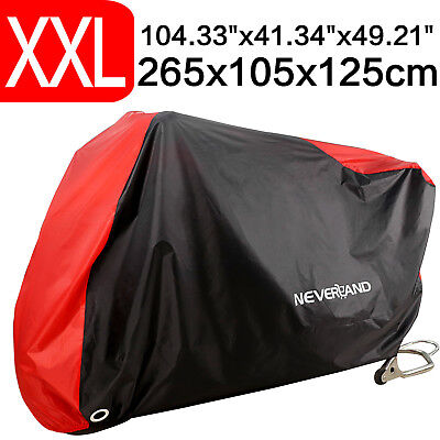 L Size Motorcycle Cover Waterproof Bike Outdoor Rain Dust UV Protector Black/&Red