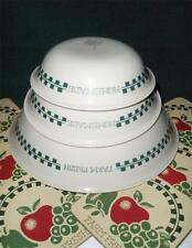 Corelle FARM FRESH Fruit Sandstone 10oz DESSERT BOWL Green Gingham JAM Jelly EUC