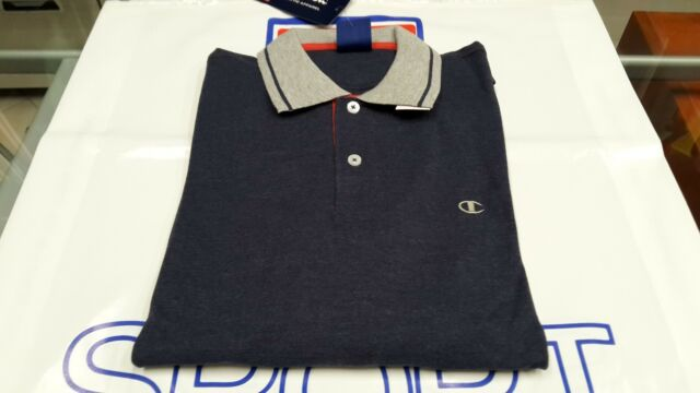official photos bfd8e 33190 Polo Uomo Champion Manica lunga Art. 209550 per acquisti multipli S Blu  Melange - 3740