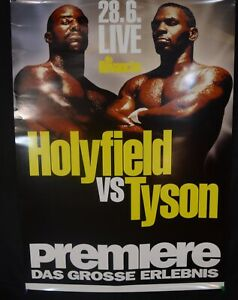 EVANDER HOLYFIELD ORIGINAL FIGHT POSTER 1996 VINTAGE RARE MIKE TYSON vs