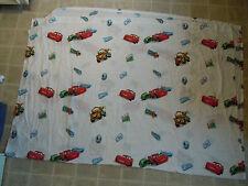 CARS Disney Pixar BED SHEET Top/Flat Movie Cartoon Twin Fabric NICE Sponsor Logo