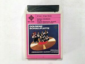Goldene-Schallplatte-West-Germany-Import-Eight-8-Track-Tape-amp-End-Cap