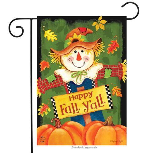 """Chute Y/' tous Scarecrow primitive Jardin Drapeau Autumn Leaves 12.5/"""" X 18/"""""""