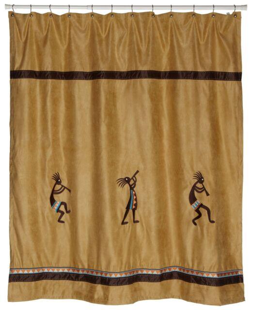 Avanti Linens Kokopelli Shower Curtain Gold