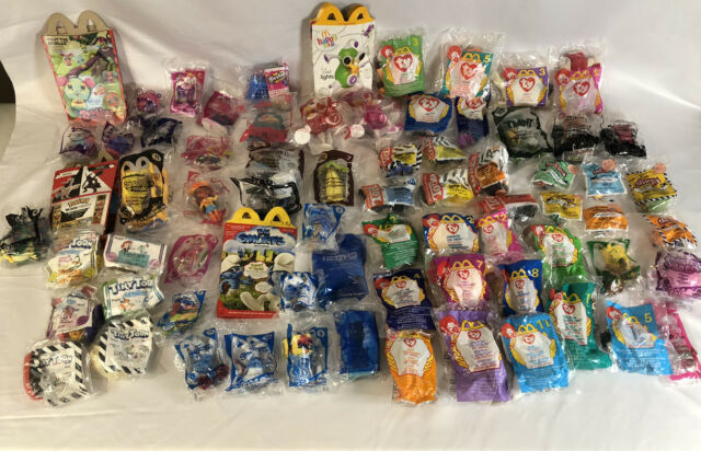 Huge Lot Of 65 Sealed Vintage McDonald's Happy Meal Toys & 4 Happy Meal Boxes