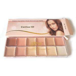 Saffron-Cream-Foundation-Cover-and-Conceal-Concealer-Palette-Contour-Kit