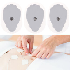 10-Pcs-Snap-On-Replacement-Pads-For-Electrode-Tens-Unit-amp-Pulse-Massager-JE