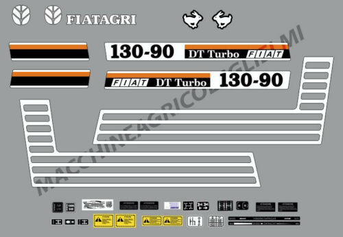 Decal Set-Stickers for tractor fiat 130-90 Turbo DT...