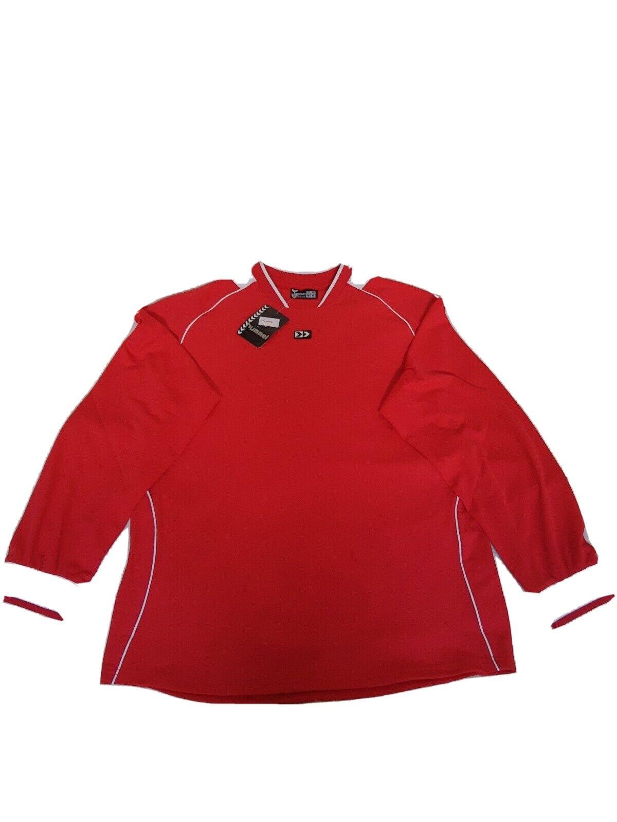 Hummel Red Football Training Sport Active Wear Long Sleeve T-Shirt XL BNWT