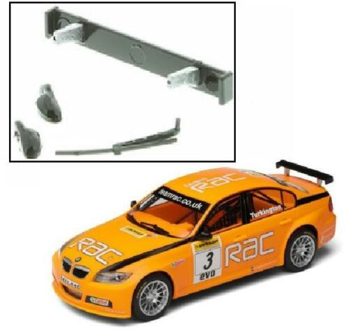 NEW Scalextric W9753 Rear Wing Spoiler Mirrors /& Wiper For BMW 320si C2909