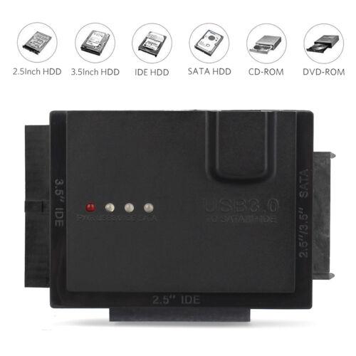 Power Cable 3.5 Inch USB 3.0 SATA HDD Hard Drive External Enclosure Case Box