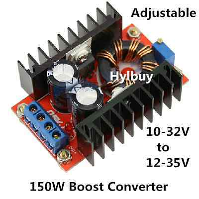 150W 6A DC-DC Converter Boost 10-32V to 12-35V 19V Step Up Voltage Power Supply