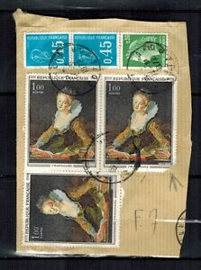 LOT-DE-TIMBRES-FRAGMENT-FRAGONARD-ART-TABLEAU-STAMP-Yt-1702