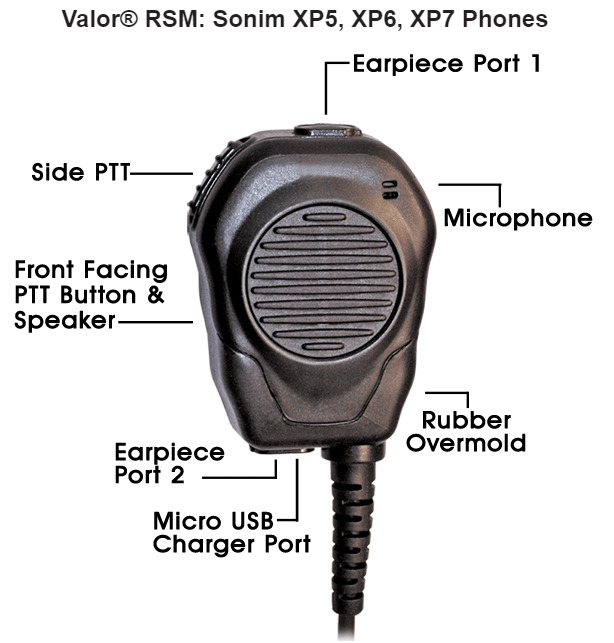 Klein VALOR Shoulder Microphone/Speaker for Sonim Devices (Rugged & Amplified). Available Now for 69.75