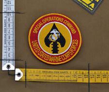 "Ricamata / Embroidered Patch Marine ""USMC SOC"" with VELCRO® brand hook"