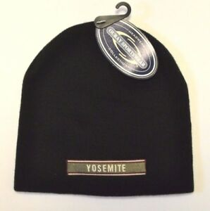 5b198b205 Details about *YOSEMITE* National Park Beanie Knit Shedder Ski cap hat  embroidered *OURAY*
